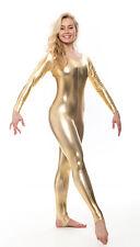 Toutes les couleurs brillant métallique danse robe fantaisie manches longues catsuit kdc012 par KATZ