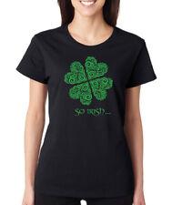 SO IRISH geometric bohemian Saint Patrick's Day clover shamrock Women's T-Shirt