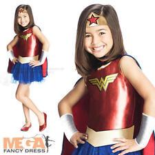 Wonder woman kids robe fantaisie fille super-héros movie Costume Outfit années 80 âges 3-7