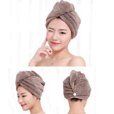 Microfiber Towel Quick Dry Hair Magic Drying Turban Wrap Hat Caps Spa Bathing LJ