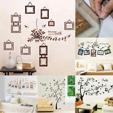 Chambre à coucher PVC amovible DIY Cadres photo Décor murale Autocollant d'art