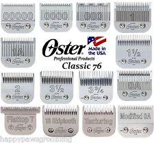 GENUINE OSTER CryogenX CLASSIC 76 PRO CLIPPER BLADE A5 AG BG*HAIR STYLIST BARBER