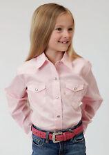 961e6aaea6690 item 1 Roper Basics Girls Pink Cotton Solid Poplin L S Shirt -Roper Basics  Girls Pink Cotton Solid Poplin L S Shirt