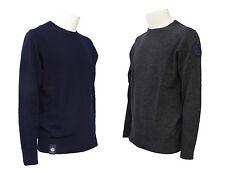 Maglia da uomo grigio e blu North Sails girocollo lana manica lunga casual moda