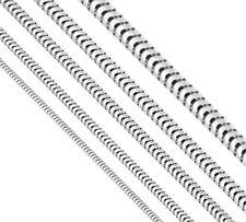 Collier Schlangenkette rund 925 Silber, Kette L34-100cm (von Ø 0,9mm bis 6,0mm )