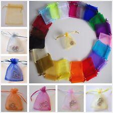 Organza Matrimonio Baby Shower Festa Borsa Regalo Gioielli SACCHE 7x9 9x12 11x16cm