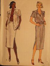 Lovely VTG 70s VOGUE 7388 Misses Shirt Skirt & Bra PATTERN 6~8~10 UC