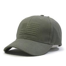 Vintage Tone on Tone US Flag Cotton Adjustable Baseball Cap