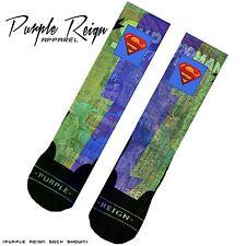 "NIKE AIR JORDAN RETRO IV 4 ""DOERNBECHER"" SUPERMAN Custom Premium Socks"