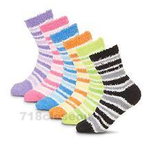 6-Pairs Women's Soft N Fuzzy Ladies Cozy Crew Socks Size 9-11 Shoe Size 4-10 NEW