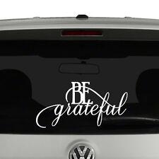 Be Grateful Script Quote Vinyl Decal Sticker