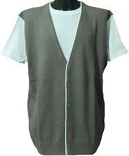 NEW Mens Big Size Kam Under T Shirt Layered Effect Cardigan 2XL 3XL 4XL 5XL 6XL