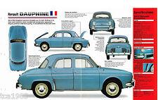 Renault DAUPHINE IMP Brochure: 1956,1957,1958,1959