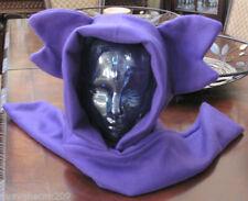 Pokemon Sableye purple fleece winter ear scarf hoodie hat in 6 sizes