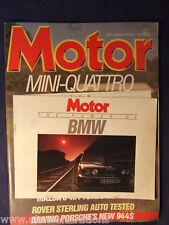 MOTOR Magazine W/E 4th October 1986 Mazda 323 4x4 Lux