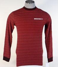 DC Shoe Co. Red & Black Stripe Long Sleeve Tee T Shirt Mens NWT