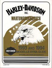 HARLEY Werkstatthandbuch 1993+1994 Dyna Wide Glide FXDL FXDWG DEUTSCH 99481-94GA