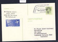 41304) Niederlande KLM FF Amsterdam - Melbourne 18.12.83, GA-Karte