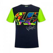 """VR46 Valentino Rossi """"Multicolore 46' Motocicletta Moto T-Shirt-Blu"""
