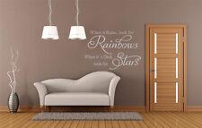 Cuando llueve buscar Rainbows citar calcomanía de pegatinas de pared de Reino Unido Sh77