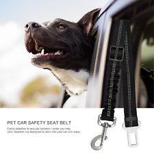 Black Harness Elastic Nylon Adjustable Cat Dog Pet Car Safety Seat Belt Leash