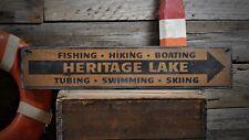 Custom Lake House Fishing Boating Sign -Rustic Hand Made Vintage Wood ENS1001098