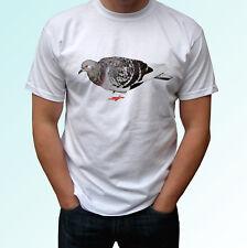 Pigeon white t shirt animal tee top bird design - mens womens kids baby sizes
