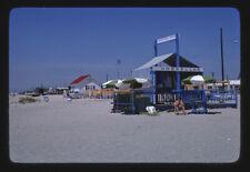 Photo Umbrella stand beach Cape May New Jersey 1978 Margolies 12a