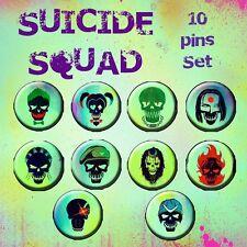 Set 10 spille Suicide Squad disponibili varie dimensioni joker Harley Quinn DC