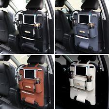 Car Seat Back Bag Organizer Storage iPad Holder Multi-Pocket PU Leather 4 Colors