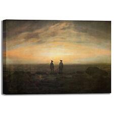 Caspar uomini in riva al mare quadro stampa tela dipinto telaio arredo casa