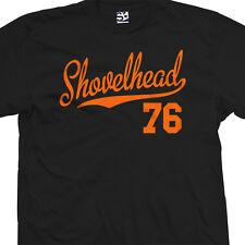 Shovelhead 76 Script Tail T-Shirt - 1976 Motorcycle Bobber Chopper - All Colors