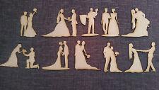 In legno MDF Matrimonio Figure Abbellimenti Craft scrapmaking Carte Decorazioni