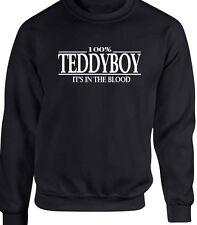 Teddyboy Sweatshirt T-Shirt 100% It's In The Blood Gift Rockabilly Rocker Ace