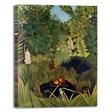Rousseau gli allegri commedianti quadro stampa tela dipinto telaio arredo casa