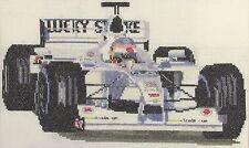 Jacques Villeneuve Formula 1 contato CROSS STITCH KIT o grafico 14S AIDA