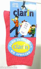 CALCETINES INFANTILES CLARIN liso Calzini Bambini Kids Socks Chaussettes Enfants