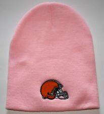 Cleveland Browns Womens Knit Beanie Toque Winter Hat Skull Cap - Pink