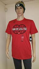 Nike Elite Men's Red Dri-Fit Short Sleeve Graphic Running Shirt 465646 S M L 3XL