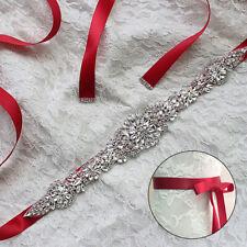 Crystal Rhinestone Bridal Sash Belt Crystal Pearl Wedding Dress Sash Belt