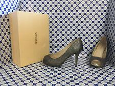 Scarpe Tacco 10 Menbur Donna - Open Toe Plato Interno - Piombo - 7789