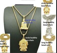 Buddha Head Tibet Religious Ball Box Chain Necklace Pendant Buddhist Hip Hop