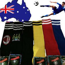 Men's Sport Football Soccer Above Knee Socks Long Red Blue Black Yellow OFSOC01