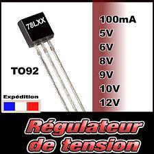 1540# régulateur de tension au choix 3,3V, 5V, 6V, 8V , 9V, 10, 12V - 100mA TO92