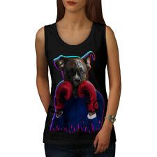 Boxer Animal Divertido Perro mujeres Camiseta sin mangas Nuevo | wellcoda