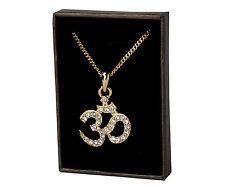 18k Oro Plateado Collar de Religioso - HINDÚ OM - Regalos Para las Mujeres