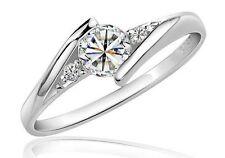 Anello argento in satin-BUSTINA Argento AVVIAMENTO protetto Anello di fidanzamento amore Love Anello