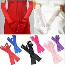 Damen Lange Satin Handschuhe Handstulpen Brauthandschuhe Armstulpen Hochzeit G
