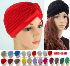 Schal Hijab Kopf Wrap Stretch Krebs Chemo Kappe Muslimisch Schleife Damen Turban