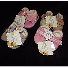 Nouveau disney baby chaussons pour bébé chaussures rose orbeige tigrou/winnie ~ baby sz 1-4 chausson